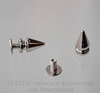 Шип винтовой из 2х частей (цвет - платина) 13х7 мм,8х7 мм