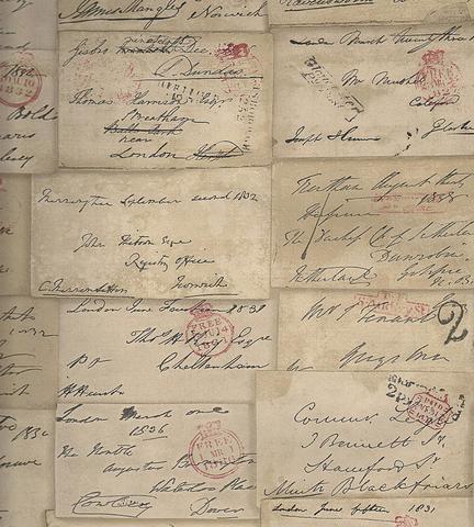 Обои Andrew Martin Navigator Love Letter Parchment, интернет магазин Волео
