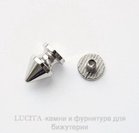 Шип винтовой из 2х частей (цвет - платина) 12х8 мм,8х7 мм