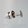 Шип винтовой из 2х частей (цвет - платина) 12х8 мм,8х7 мм ()
