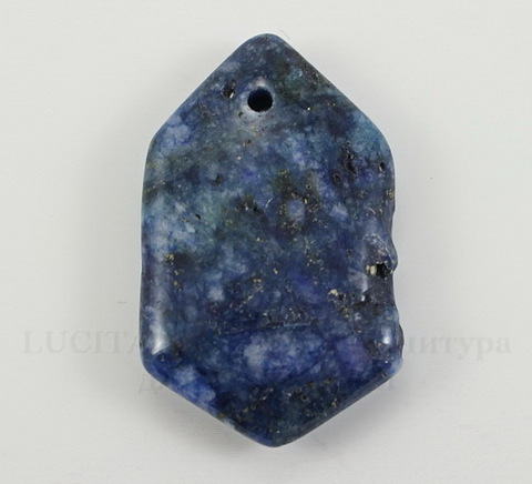 Подвеска Ляпис Лазурит (прессов., тониров) (цвет - темно-синий) 34,5х21,5х6,9 мм №52