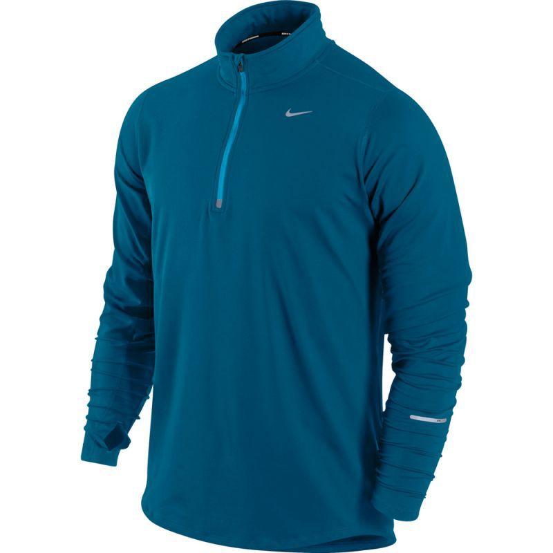 Мужская беговая футболка Nike Element 1/2 Zip LS  (504606 323)