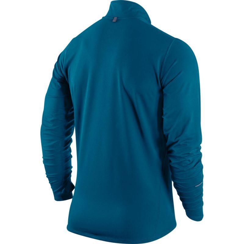 Мужская беговая футболка Nike Element 1/2 Zip LS  (504606 323) фото