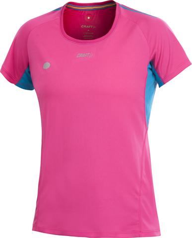 Футболка Craft Performance Run Tee женская розовая
