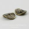 """Шапочка для бусины TierraCast """"Геометрия"""" (цвет-античная латунь) 10х2 мм, 2 штуки"""