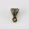 """Бейл TierraCast """"Кельтский узел"""" 9х6х5 мм (цвет-античное золото) ()"""