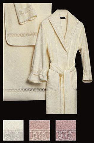 Элитный халат махровый Majestic чайная роза от Cesare Paciotti