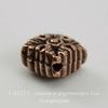 """Бусина ромб TierraCast """"Luna"""" 11х11х6 мм (цвет-античная медь)"""