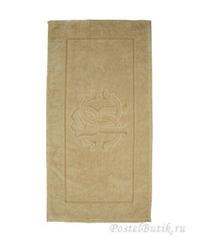Элитный коврик для ванной Logo бежевый от Roberto Cavalli