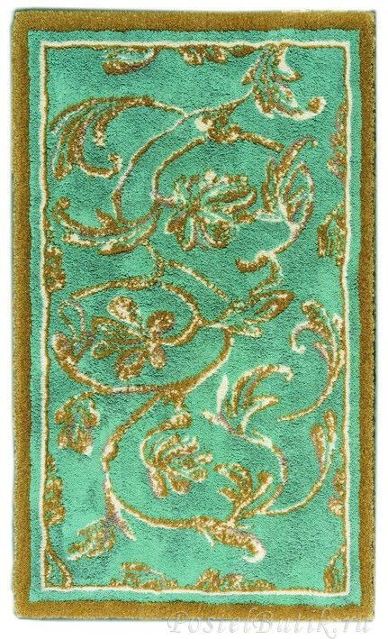 Элитный коврик для ванной Dynasty 220 бирюзовый с золотом от Abyss & Habidecor