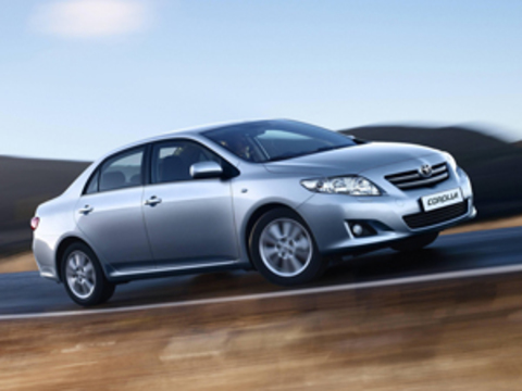 Защита передних фар карбон Toyota Corolla 2007- (EGR1059CF)