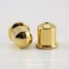 """Концевик для шнура 6 мм TierraCast """"Купол"""" (цвет-золото) 9х9 мм"""
