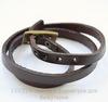 Браслет (кожа) цвет - темно-коричневый + античная бронза 520х8,5 мм