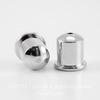 """Концевик для шнура 6 мм TierraCast """"Купол"""" (цвет-платина) 9х9 мм ()"""