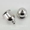 """Концевик для шнура 8 мм TierraCast """"Taj"""" (цвет-платина) 16х11 мм ()"""