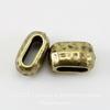Бусина для шнура 6х2 мм TierraCast 10х6х6 мм (цвет-античная латунь) ()