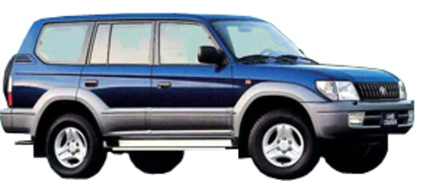 Защита передних фар карбон Toyota Land Cruiser 90 1999- (239110CF)