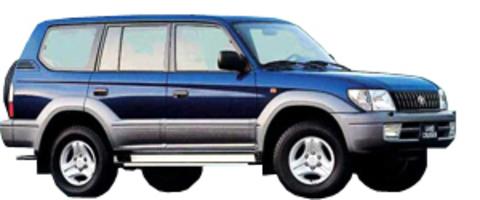 Защита передних фар карбон Toyota Land Cruiser 90 1999- (EGR-7246CF)