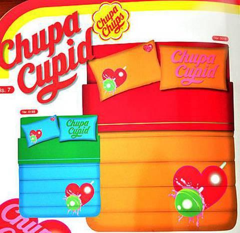 Детское постельное белье Zambaiti Chupa-7 Chupa Cupid оранжевое