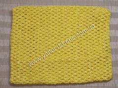 Ажурный топик желтый