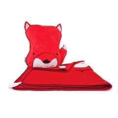 Хитрый Лис SNOOZIHEDZ: детский дорожный набор подушка и плед