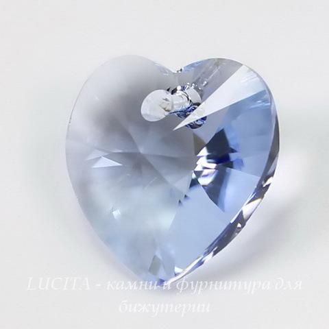 6202/6228 Подвеска Сваровски Сердечко Light Sapphire  (14,4х14 мм )