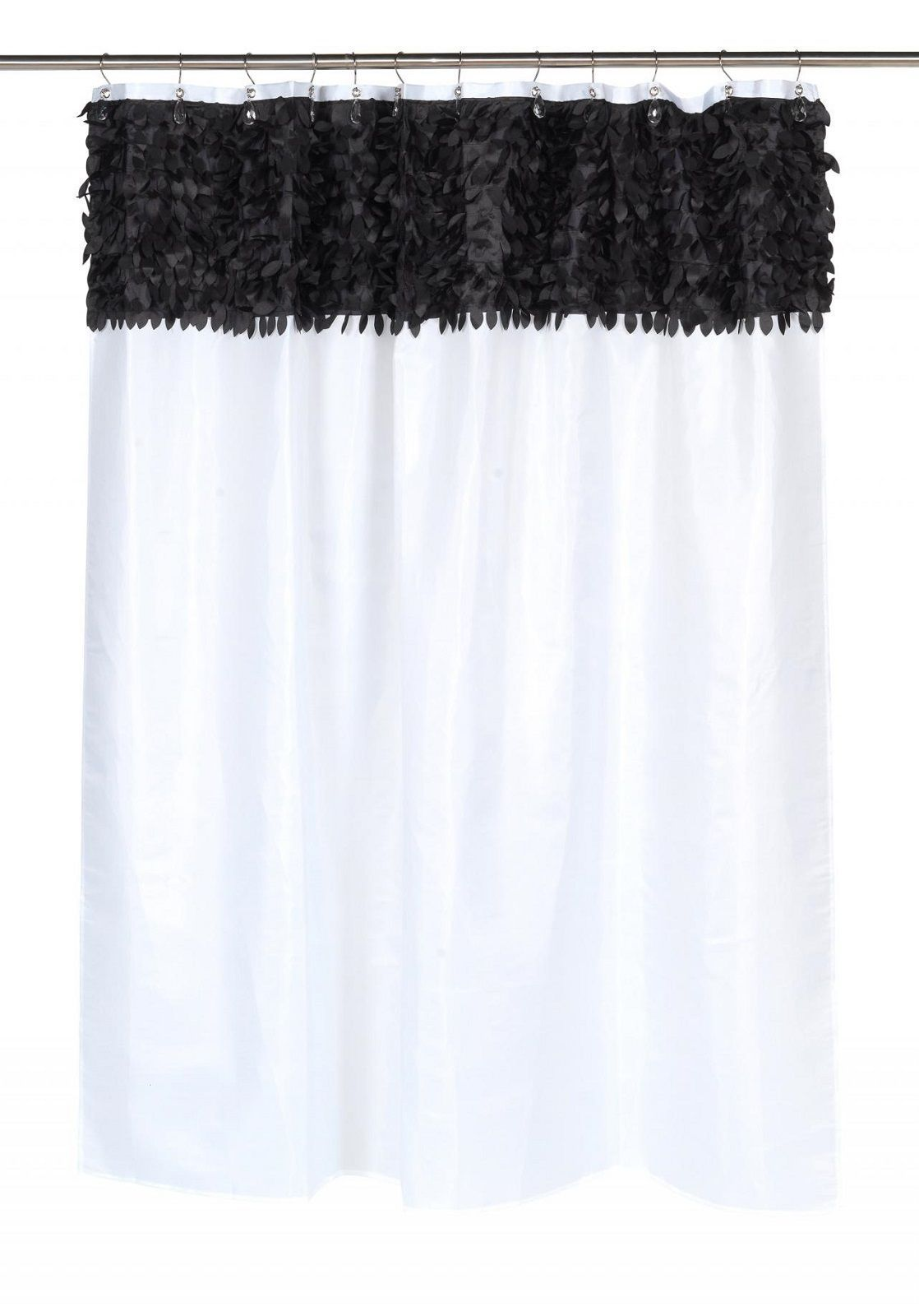 Шторки для ванной Шторка для ванной 178x183 Carnation Home Fashions Jasmine White-Black elitnaya-shtorka-dlya-vannoy-jasmine-white-black-ot-carnation-home-fashions-ssha-kitay.jpg