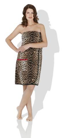 Элитный килт-саронг для сауны женский шенилловый Safari 10 schwarz от Feiler