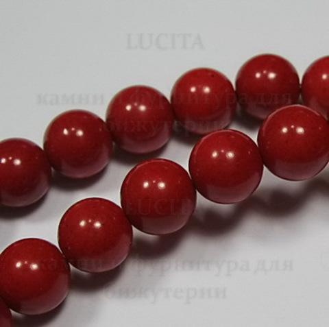 Бусина Коралл (искусств), шарик, цвет - красный, 8 мм, нить ()