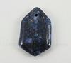 Подвеска Ляпис Лазурит (прессов., тониров) (цвет - темно-синий) 34,7х21,8х6,8 мм №60