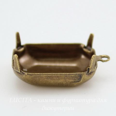 Сеттинг - основа - подвеска для страза 18х13 мм (оксид латуни) ()