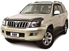 Защита передних фар прозрачная Toyota Land Cruiser 120 (Prado) 2003- (239180)
