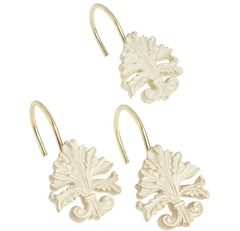 Набор из 12 крючков для шторки Fleur di Lis Brushed Gold от Carnation Home Fashions