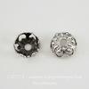 Винтажный декоративный элемент - шапочка 7х3 мм (оксид серебра) ()