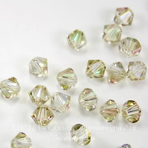 5328 Бусина - биконус Сваровски Crystal Luminous Green 4 мм, 10 штук