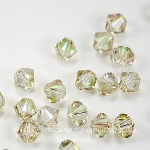 5328 Бусина - биконус Сваровски Crystal Luminous Green 4 мм, 10 штук ()