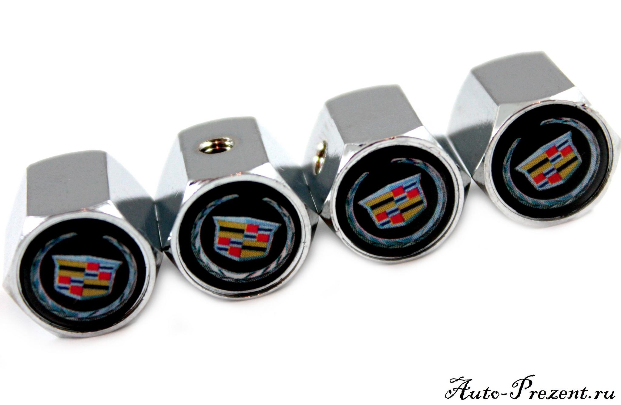 Колпачки на ниппель CADILLAC с защитой от кражи