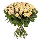 Букет из 51 кремовой розы/ 60 см.