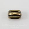 """Бусина для шнура 6х2 мм TierraCast """"Deco Barrel"""" 11х6х6 мм (цвет-античная латунь) ()"""