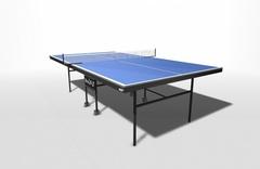 Теннисный стол для помещений складной, усиленное игровое поле, на роликах WIPS СТ-ПРУ (61021)