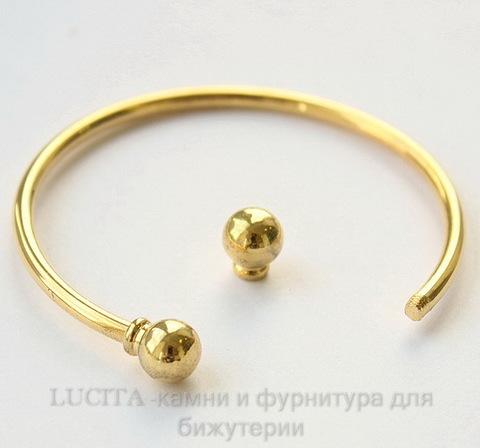 "Основа для браслета ""Пандора"" 15 см (цвет - античное золото)"