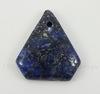 Подвеска Ляпис Лазурит (прессов., тониров) (цвет - темно-синий) 30,6х27,5х6 мм №30