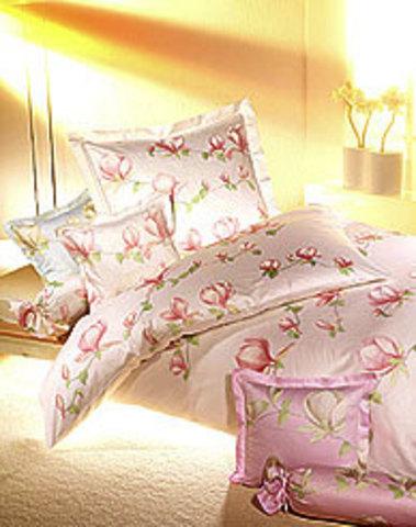 Элитная наволочка Magnolie розовая от Elegante