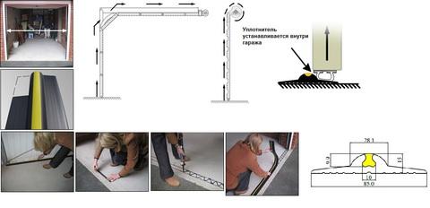 Уплотнитель на пол Weather Step (Россия) комплект 4п.м.