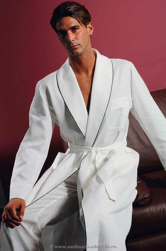 Тонкий халат из хлопка B&B (Мужские халаты)