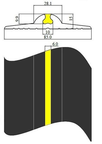 уплотнитель для пола для секционных ворот длиннее член, тем