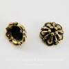 """Шапочка для бусины TierraCast """"Tiffani"""" (цвет-античное золото) 7х4,5 мм"""