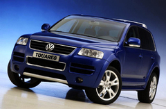 Защита передних фар прозрачная Volkswagen Touareg 4*4 2003 (224010)