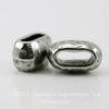 Бусина для шнура 6х2 мм TierraCast 10х6х6 мм (цвет-античное серебро) ()