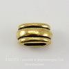 """Бусина для шнура 6х2 мм TierraCast """"Deco Barrel"""" 11х6х6 мм (цвет-античное золото)"""